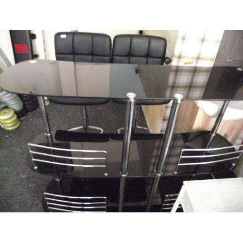 18 - Black Glass Bar and seats...