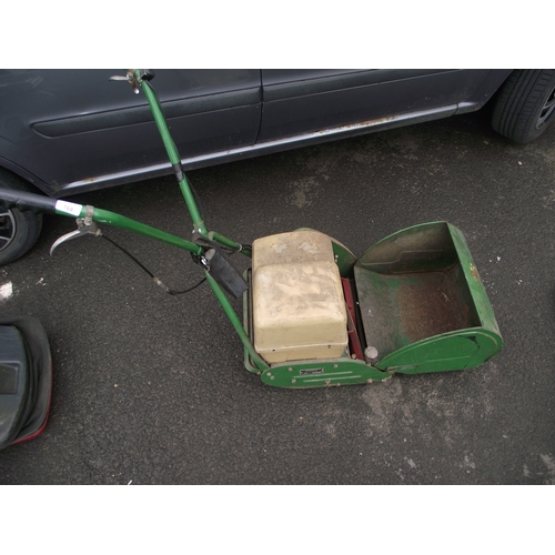 41 - Quality vintage elecric Ransomes fourteen battery lawnmower and roller in one....