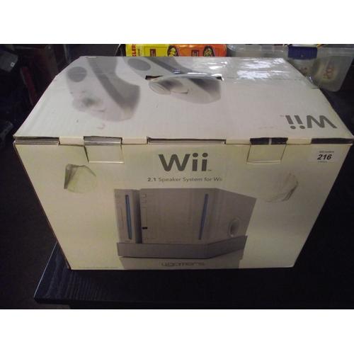 47 - Wii 2.1 speaker system....