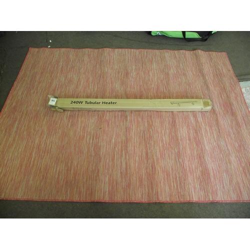41 - 2400w Tubular heater and hard wearing rug...