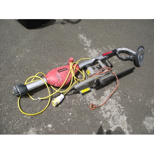 46 - Menzer floor sander and hedge trimmer...