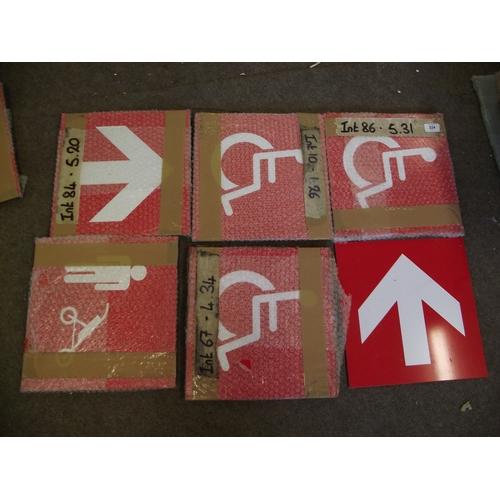 50 - 6  various Perspex signs....