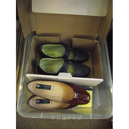 12 - 2 Boxes assorted ladies shoes...