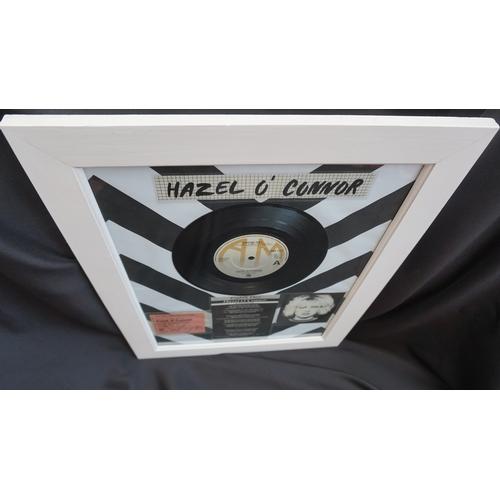 24 - Punk rock original Hazel o'connor hand signed gig ticket and eighth day vinyl single framed. 1980....