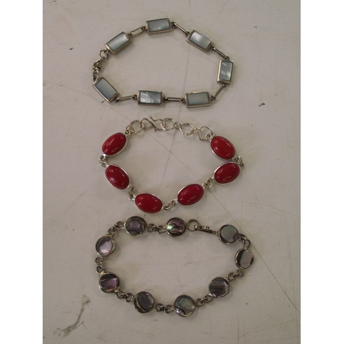 27 - 3 Vintage silver bracelets....
