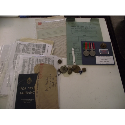 29 - Collection of ww2 medals, badges and documents etc...