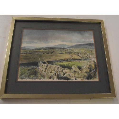 36 - Good quality Heaton Cooper framed print plus a Small original watercolour of Gayle, Yorkshire by P. ...