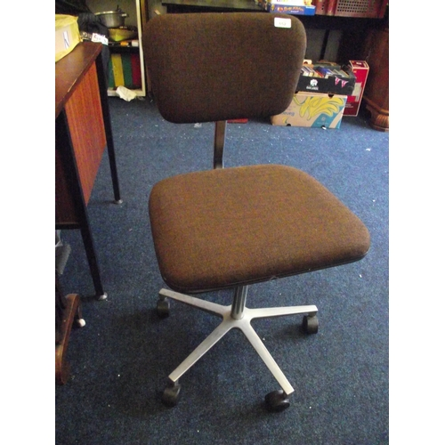 41 - Brown swivel computer chair...