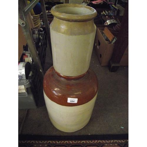 42 - 2 heavy ceramic jars....