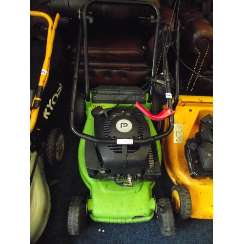 53 - Performance petrol lawnmower fully working no basket....