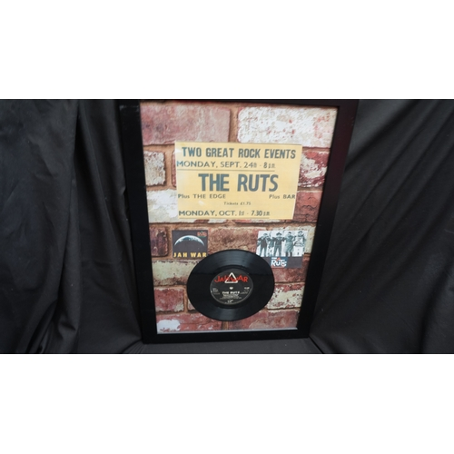 64 - Original Punk rock The Ruts Vinyl single framed montage....