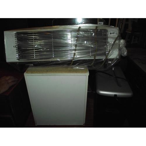 895 - Wall heater/fire + bathroom storage stool + shredder....