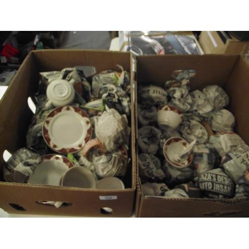 18 - 2 Boxes of Duraline dinnerware...