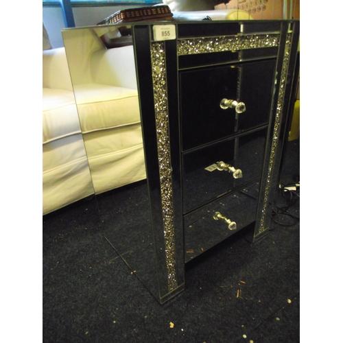 2 - Mirrored 3 drawer cabinet...