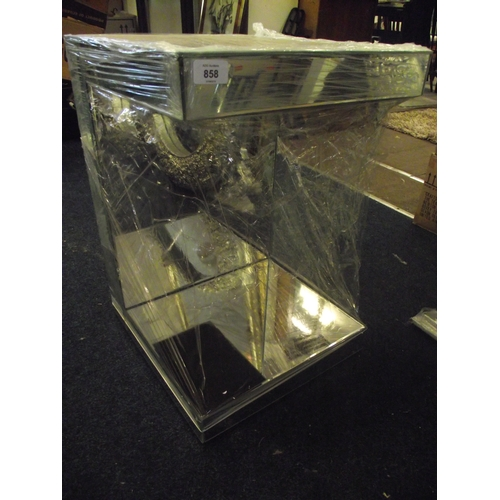 3 - Mirrored Occasional c shaped Table...