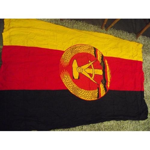 21 - Vintage cloth East German flag approx. 6 x 4 ft...