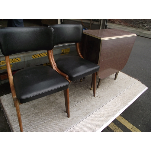 26 - 2 Retro Centa chairs and table...