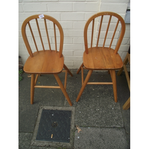 27 - 2 Small childs pine chairs...
