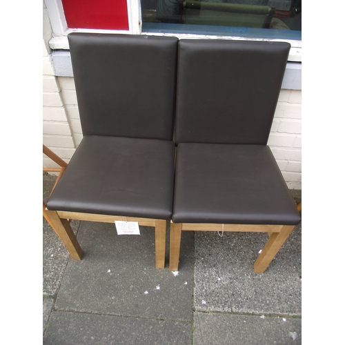 28 - 2 Modern Dining chairs...