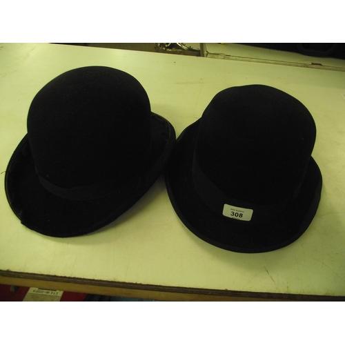 49 - Vintage Bowler hat plus 1 other...
