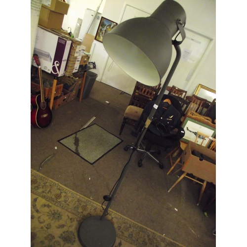 11 - Tall industrial look lamp...