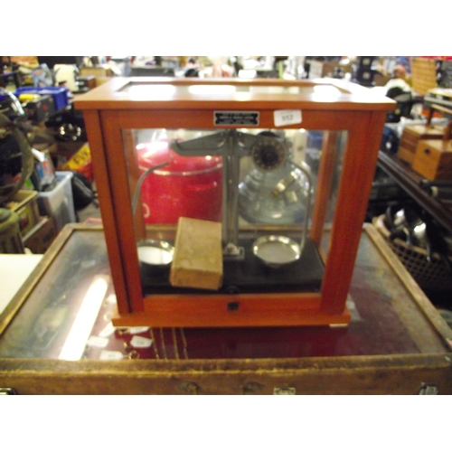 15 - Griffin and George scientific cased scales....