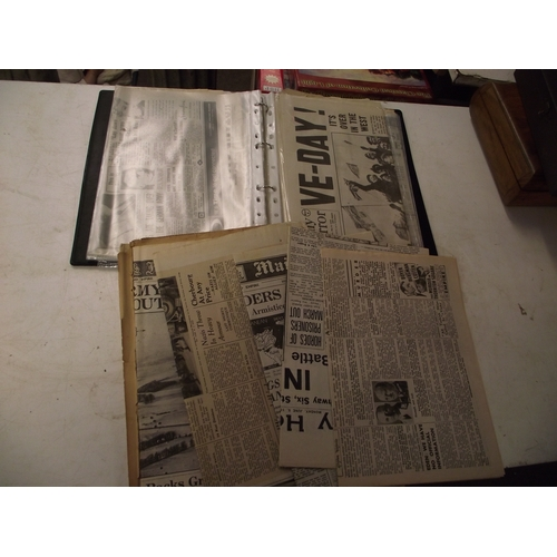 20 - Folder of various military newspaper cuttings...