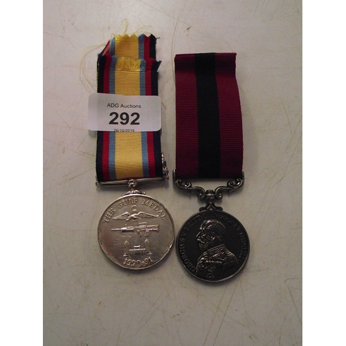 24 - Repro medal The Gulf war plus 1 other...