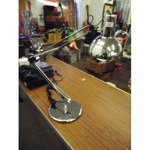 30 - Vintage anglepoise chrome lamp...