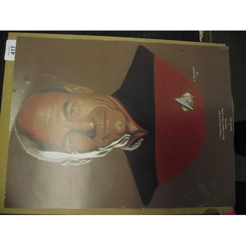 34 - Captain Jean-Luc Picard Ltd ed number 383 of 1000 signed print approx 18 inches....