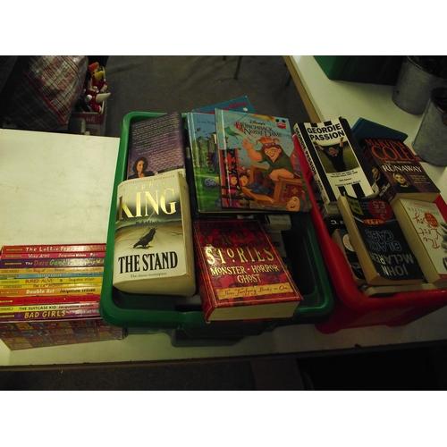 12 - 2 boxes of books inc novels, childrens ect....