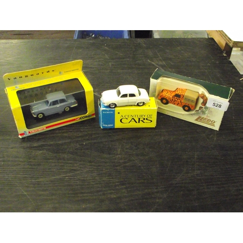 16 - Collection of diecast vintage cars inc Vanguard series Triumph Herald Lledo Woburn safari park Land ...