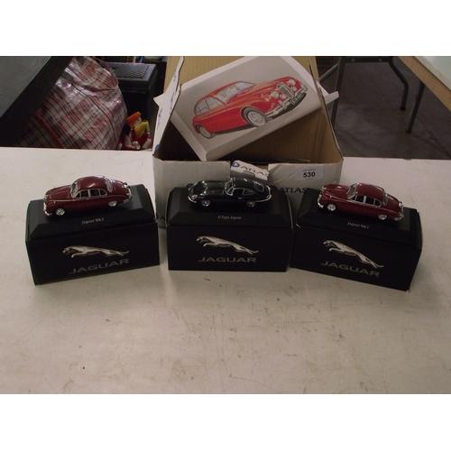17 - Set of 3 Atlas Jaguar collectors diecast carsboxed ect....
