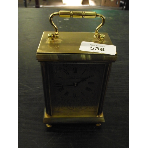 19 - Vintage carriage clock with modern mechanism...