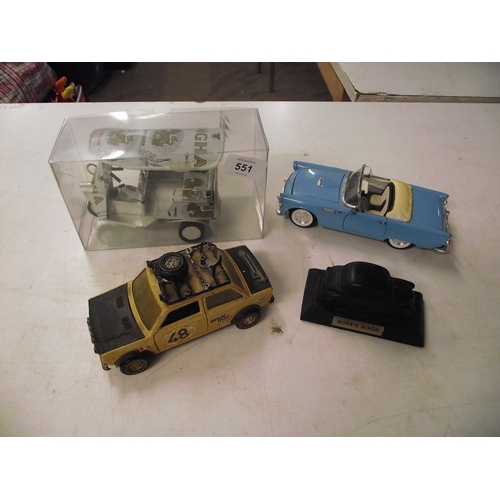 23 - Collection of diecast and other vintage car models ect....