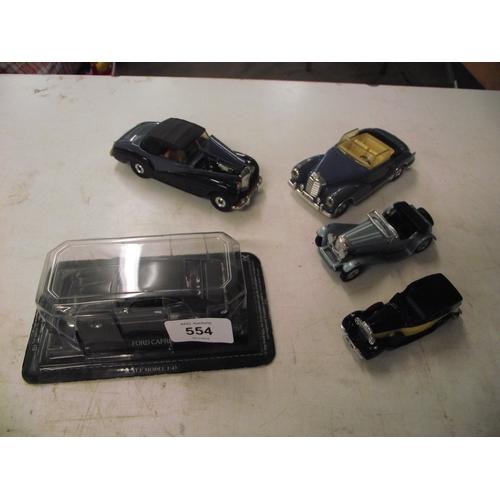 24 - 5 various vintage Corgi cars inc Bentley, Ford Capri, Mercedes ect....