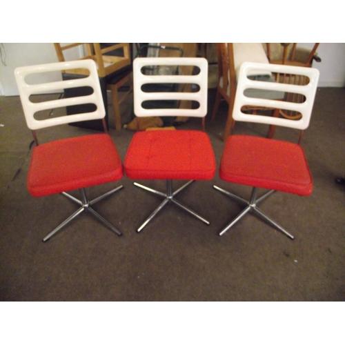 35 - 3 Retro Orange chairs...