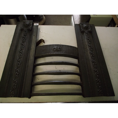 60 - Cast iron fire front....