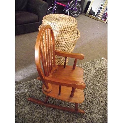 59 - Child's rocking chair + Alibaba linen basket....