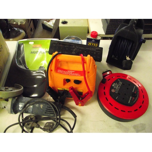 37 - Box of angle grinder, jump starters etc...