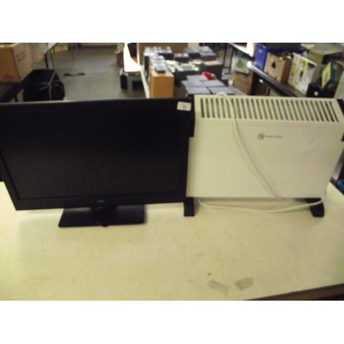 52 - Bush TV and heater...