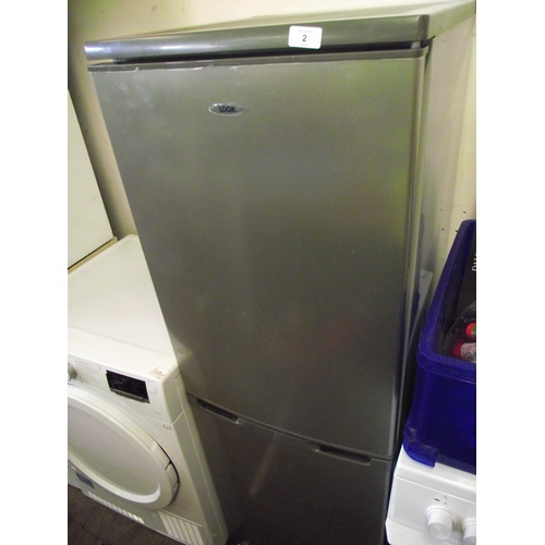 2 - Silver/grey Logic fridge freezer....