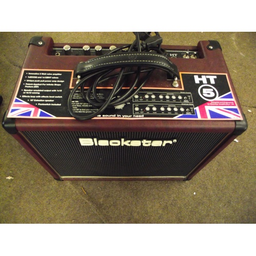 10 - Blackstar HT 5 multi function guitar amplifier 10inch celestion speaker....