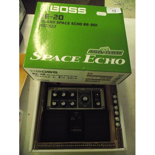 13 - New Boss Roland RE-20 Space echo RE-201 effects pedal unit....