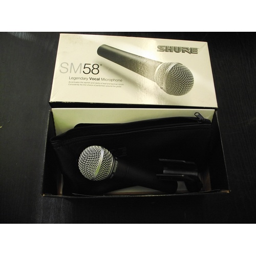 16 - Shure SM58 pro legendary vocal microphone new....