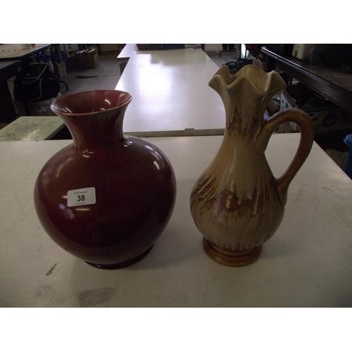 38 - 2 studio vases....