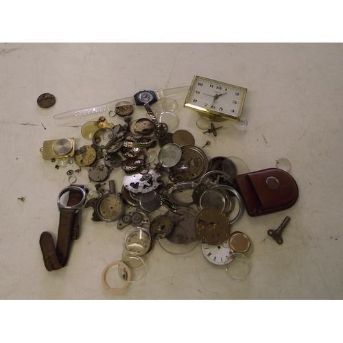 48 - Various pocket watch parts etc...
