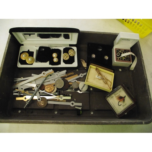45 - Tray of coins, jewellery etc...