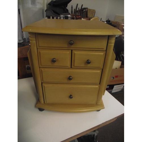 29 - 5 drawer magazine rack unit....