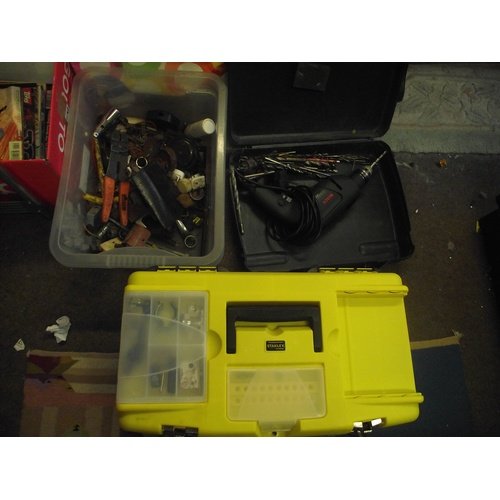 60 - Tool box + box of spanners/sockets, power tool ect....